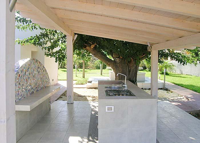 De buitenkeuken van Villa Veneziano