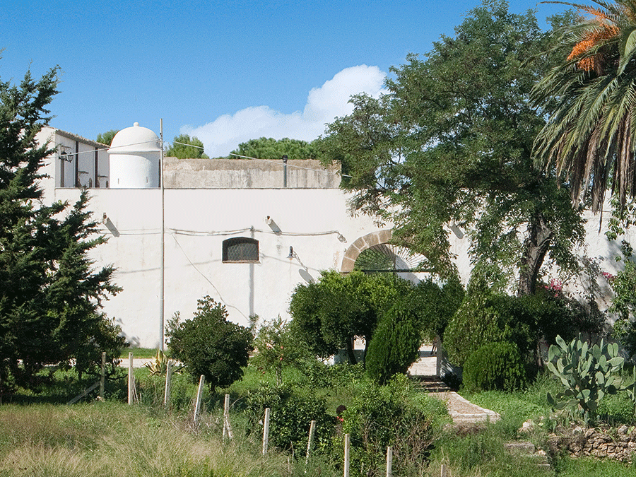 The masseria and a part of its garden