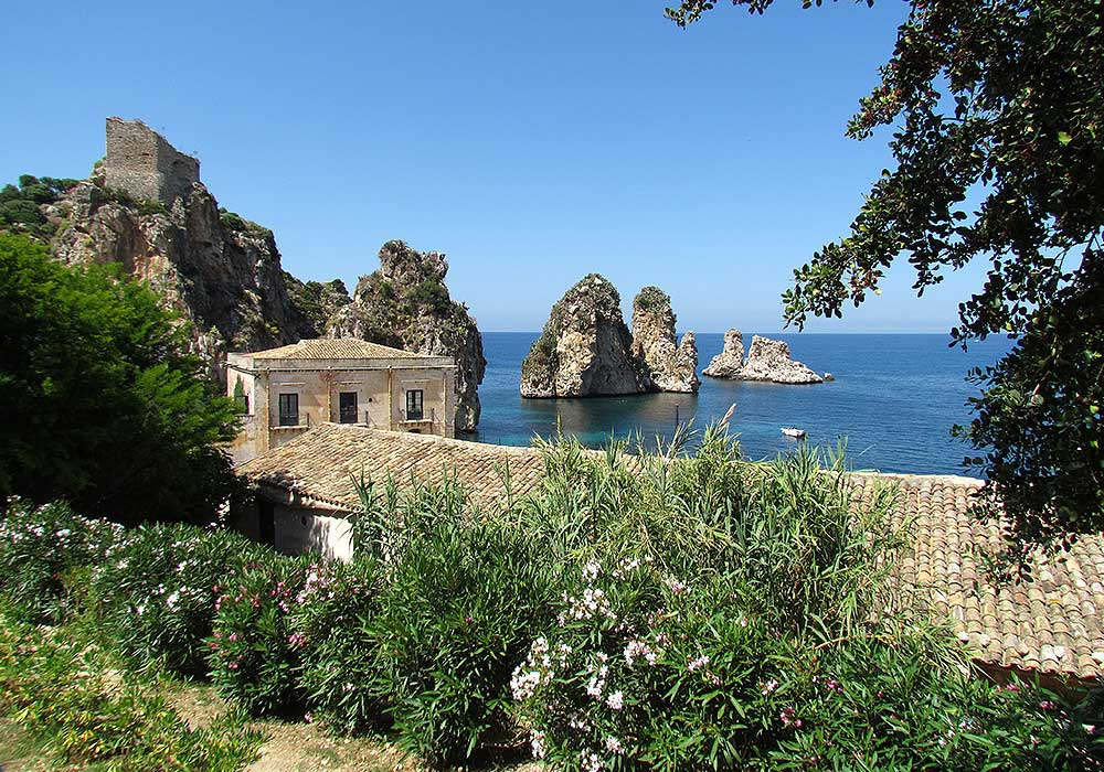 The famous Tonnara in the town of Scopello