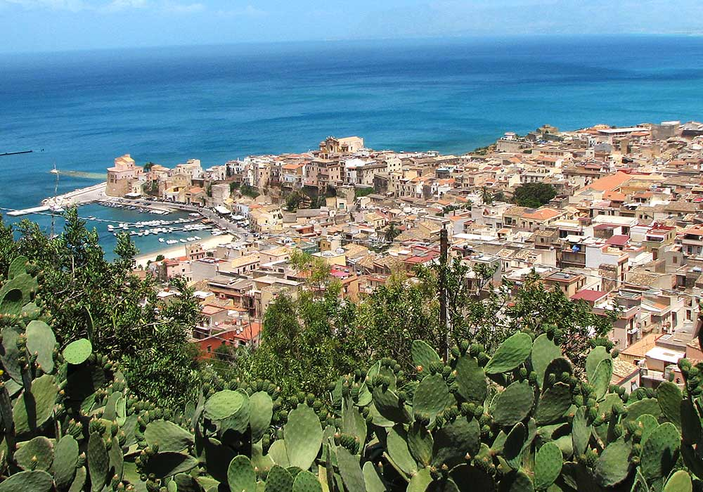The coastal town of Castellammare del Golfo
