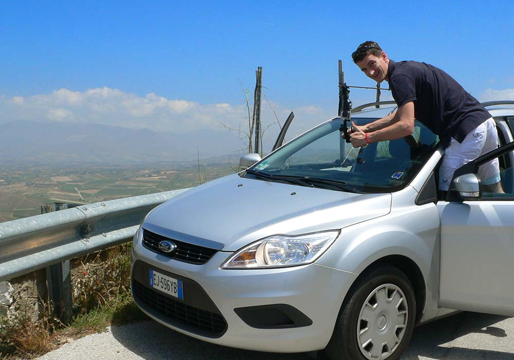 Filming on the Monte Bonifato for the Bosco d'Alcamo RLV