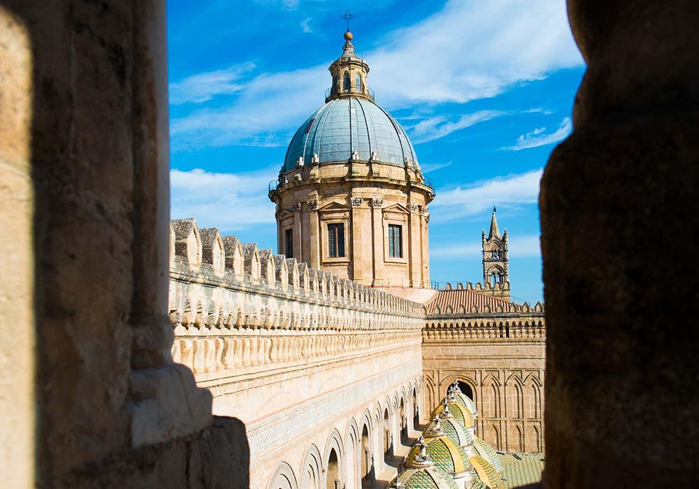 De koepel van de kathedraal van Palermo