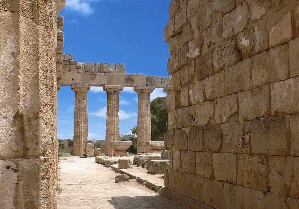 De tempel in Selinunte