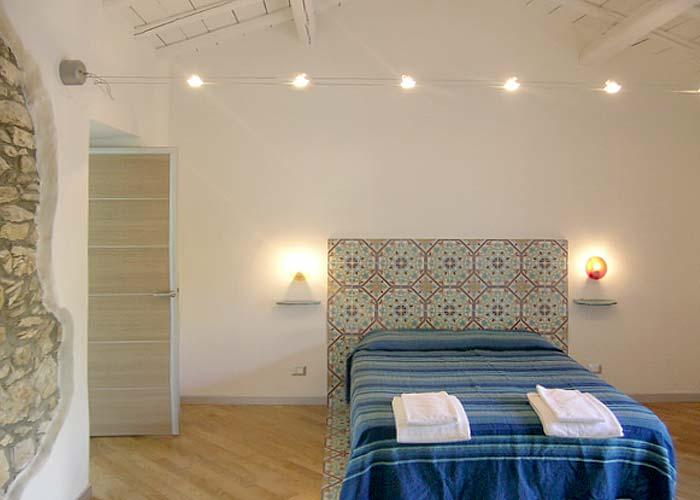 De eerste slaapkamer van Villa Veneziano