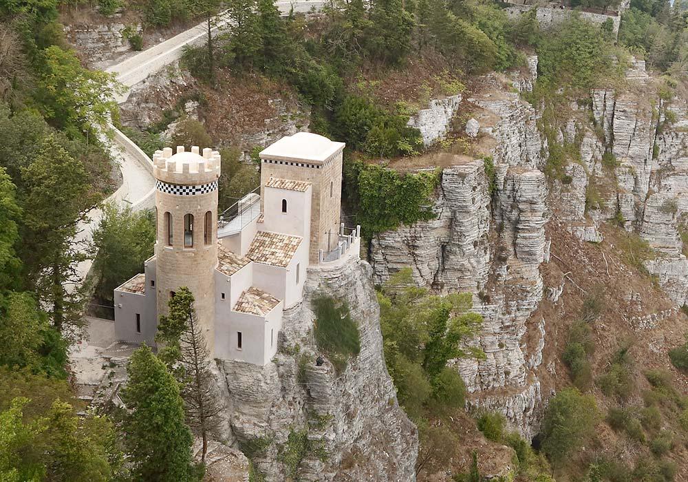 De Torretta Pepoli in het middeleeuwse plaatsje Erice