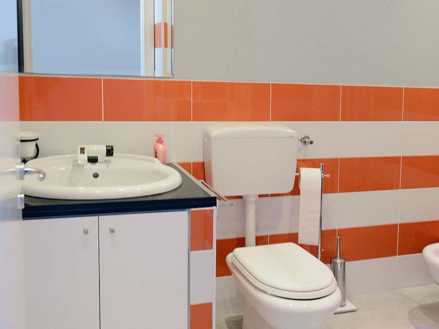 De badkamer van Appartamento Vinuzzu
