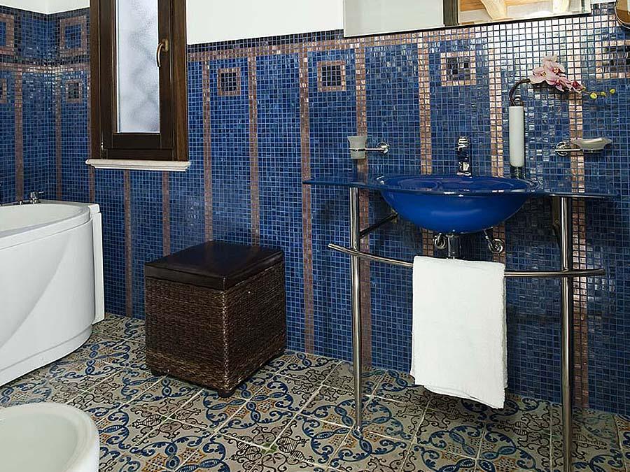 De badkamer van Appartamento Iblea