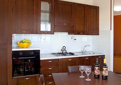 De keuken van Appartamento Palinura