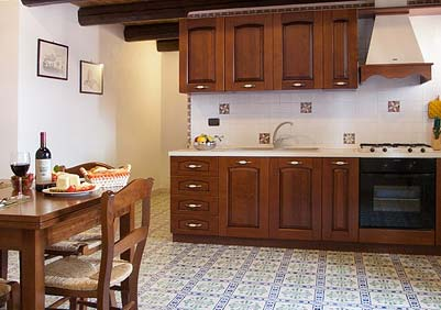 De keuken van Appartamento della Baronessa