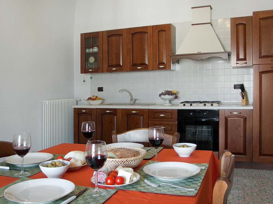 The kitchen of Appartamento del Barone