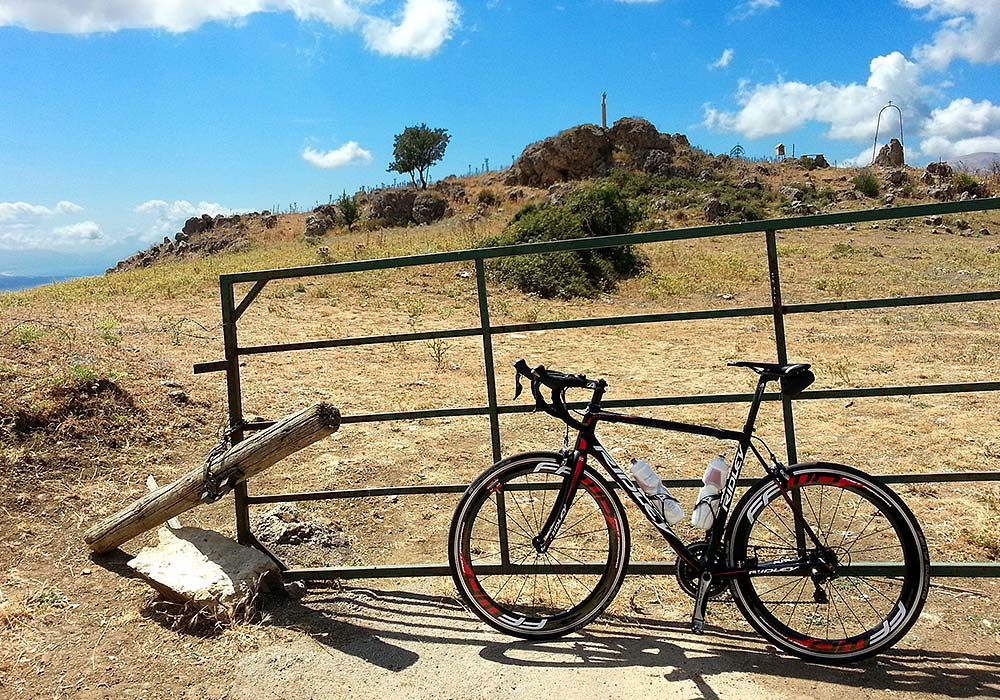 The Ridley Helium SL in the mountains near Sagana