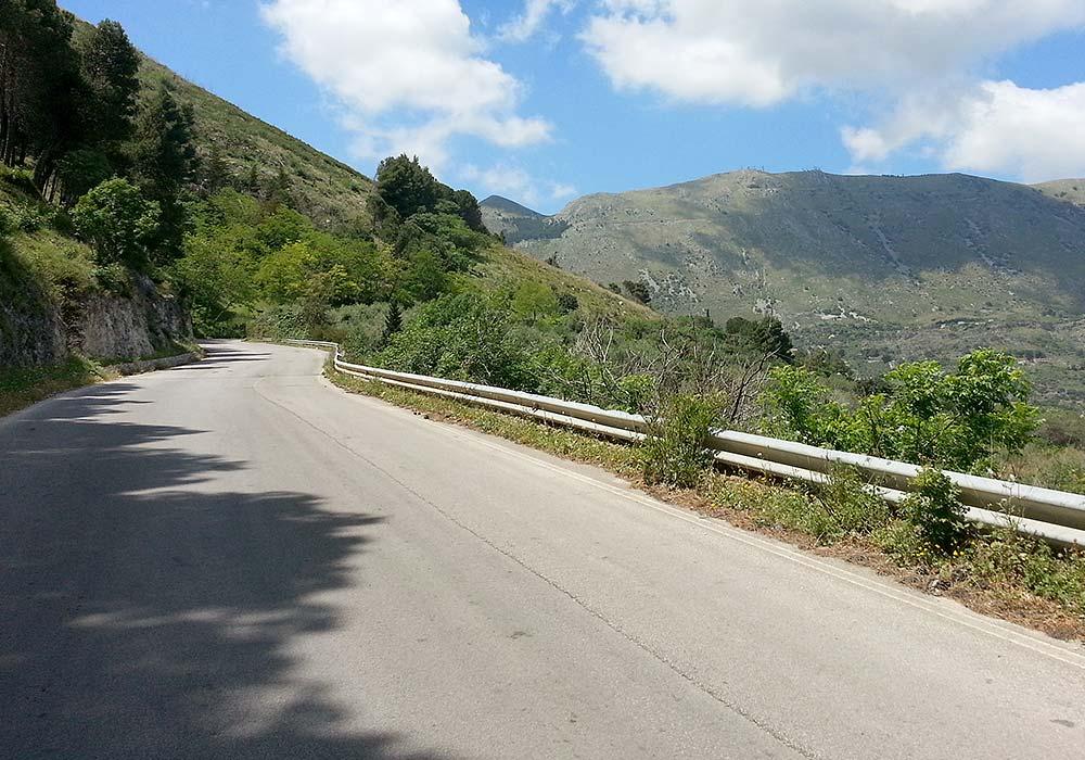 De klim bij Carini