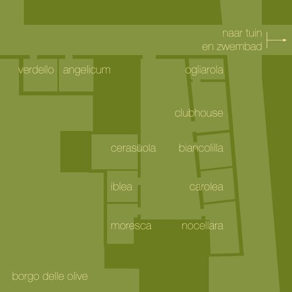 plattegrond Borgo delle Olive