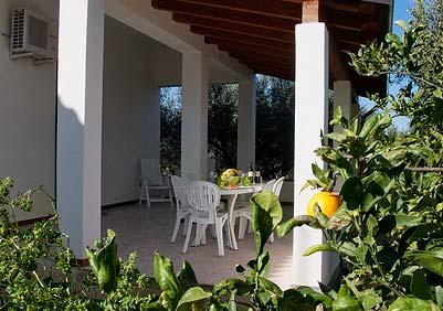 Het terras van Casa Tannura