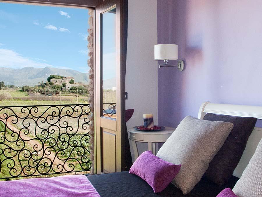 Het uitzicht vanuit de tweede slaapkamer van Appartamento Nocellara