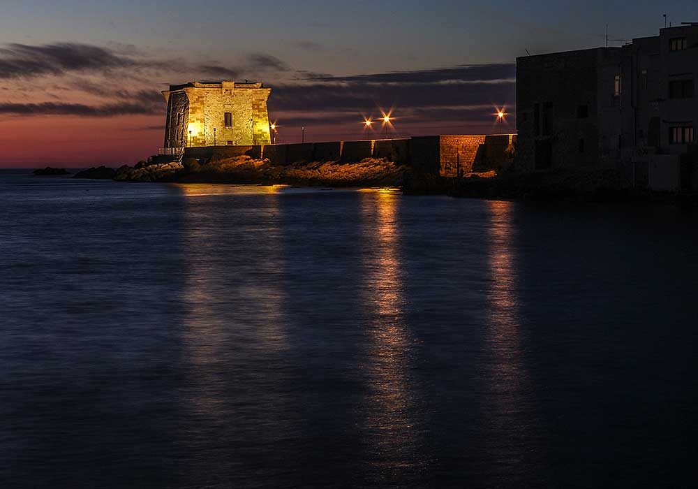 Torre Ligny by night (Trapani)