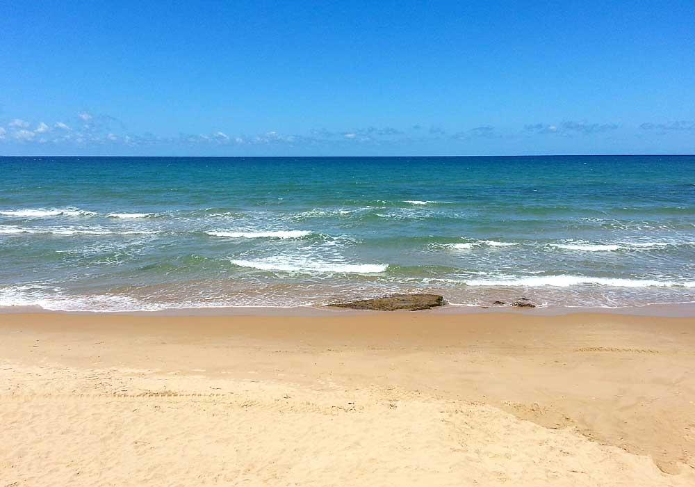 Het zandstrand van Balestrate