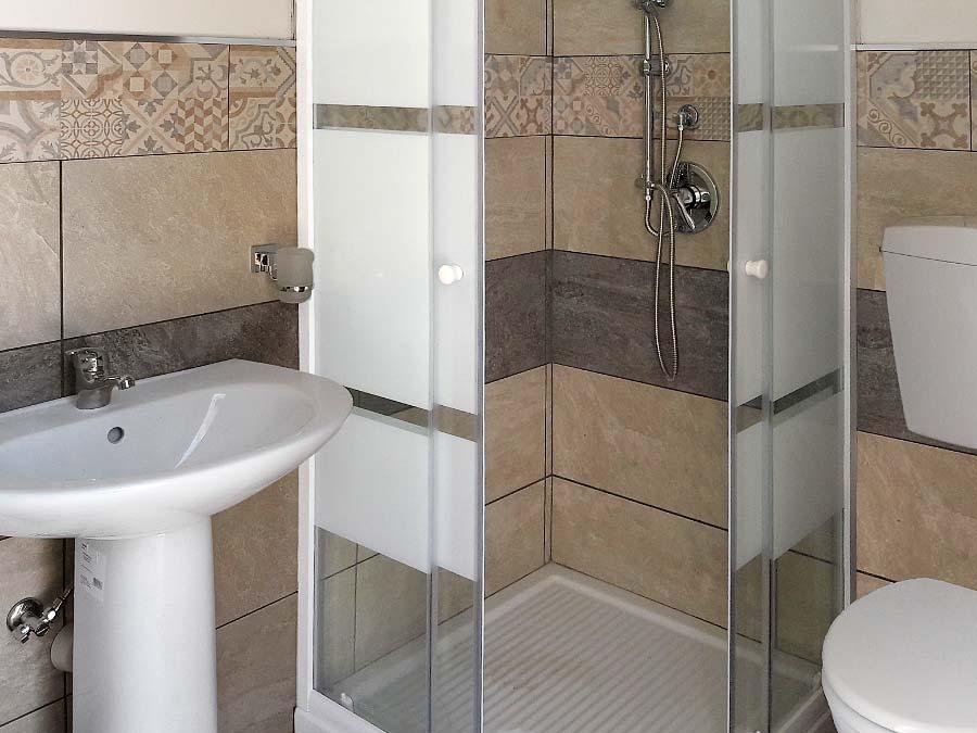 De tweede badkamer van Casa Chiàppara