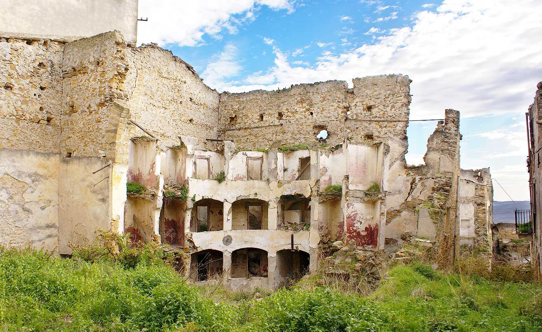 De ruïnes van het theater