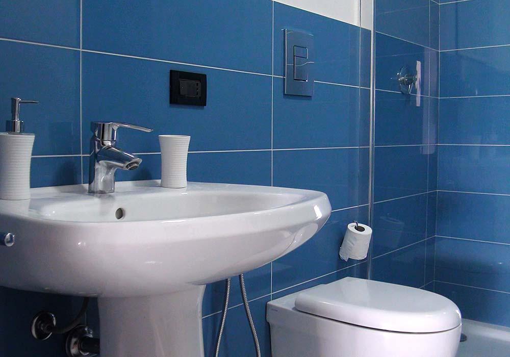 De badkamer van Appartamento Chistu