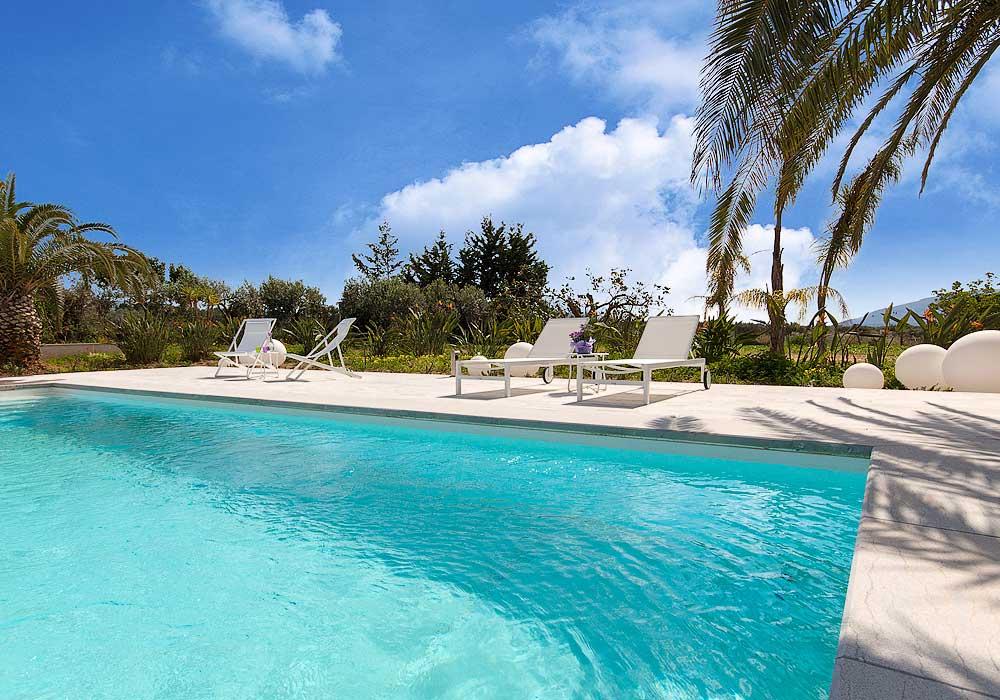 Het zwembad van Villa Liccumia