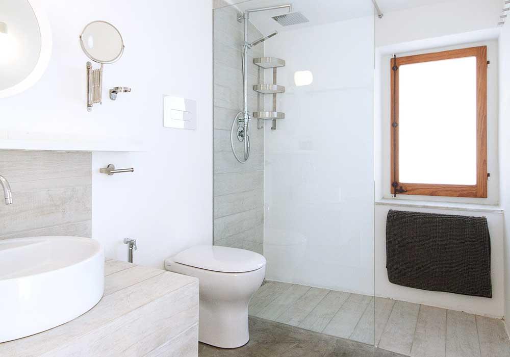 De badkamer van Villa Costardella