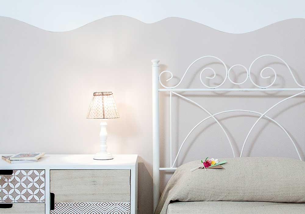 De tweede slaapkamer van Appartamento Tirrazza