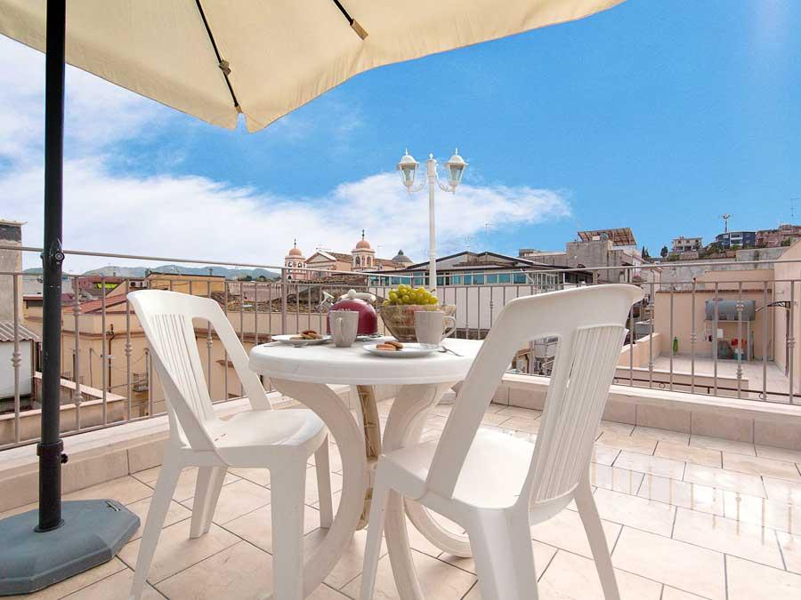 Op het dakterras van Appartamento Tirrazza