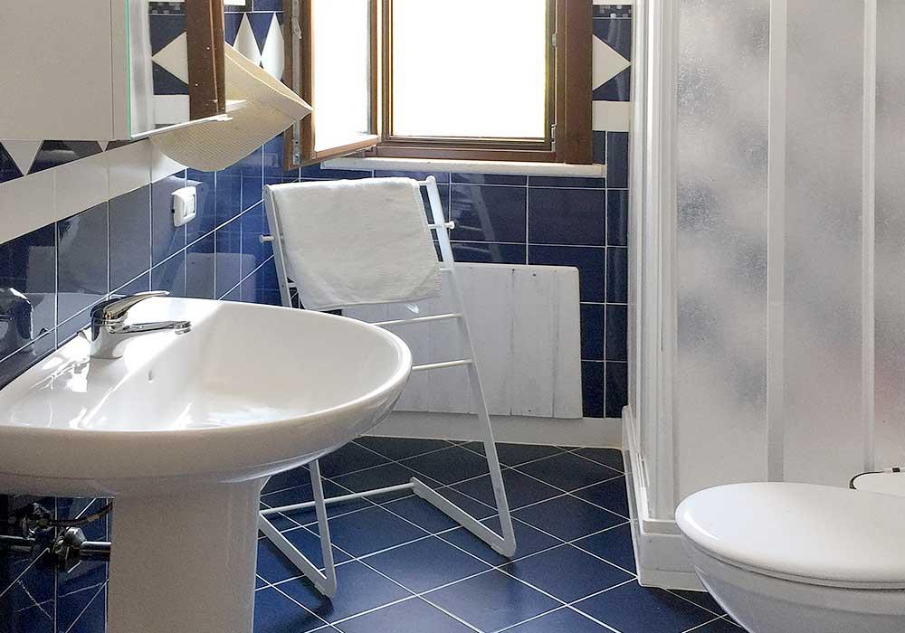 De tweede badkamer van Villa Velella